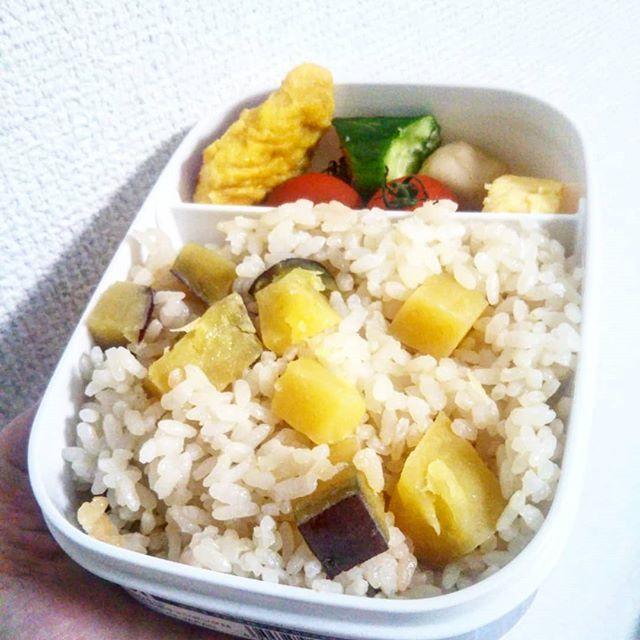 口コミ投稿:九州醤油が気になってました!ホシサンの『あまくち醤油』でお芋ご飯弁当を作ったよ…