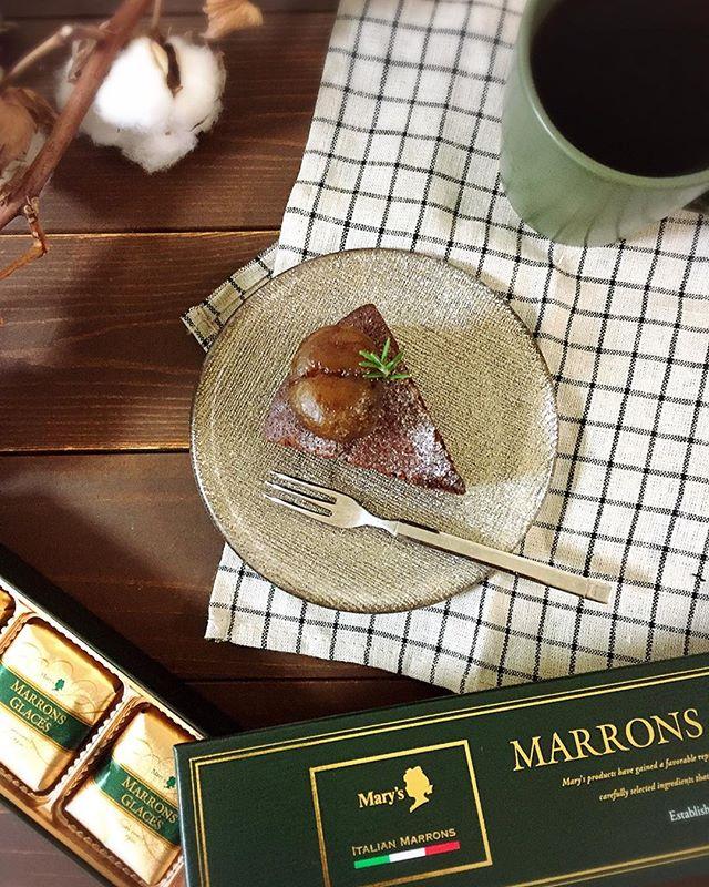 口コミ投稿:marron glacé手作りのガトーショコラにマロングラッセをのせて🌰まろやかで上品な甘さ…