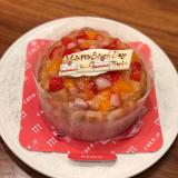 ファーストバースデーケーキ♡の画像(1枚目)
