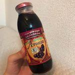 お風呂あがりに一息❤︎・・三十路に突入して早2ヶ月老化とは酸化…錆びつく体にポリフェノールを!・・今話題のアロニア果汁をお試ししたよ❤︎あのね、そのままの果汁の…のInstagram画像