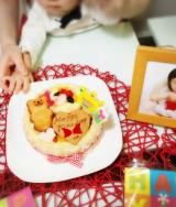 1歳のお誕生日♡ファーストバースデーケーキ(*^^*)の画像(2枚目)