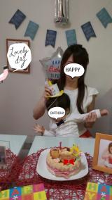 1歳のお誕生日♡ファーストバースデーケーキ(*^^*)の画像(3枚目)