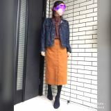 titivateスタンドカラーブラウス×コーデュロイスカートでおでかけコーデ☆の画像(1枚目)