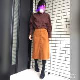 titivateスタンドカラーブラウス×コーデュロイスカートでおでかけコーデ☆の画像(2枚目)