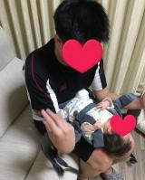 抱っこひもはドクターレーベルのベビーキャリアを使ってます☆の画像(7枚目)