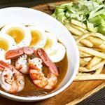 今回も #五島産鯛の出汁入りレトルトカレー を使って旨々ご飯🍴ポテトや海老、玉子につけて食べるつけカレー🍛美味しかった〜😃 #なんにでもあうカレー #monipla #agasakigot…のInstagram画像