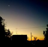 寒い日の夜明け
