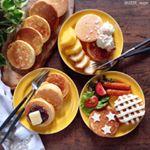 ・・Today's breakfast is pancake・・おはようございます・・朝からパンケーキ🥞焼いて娘と食べました😋・・パンケーキ用フライ…のInstagram画像