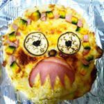 Happyalloween☆マルハニチロのピザをハロウィン風にアレンジしたよ〜焼いたら海苔が縮んじゃったΣ(・∀・;)ほとんど子どもが食べました(¯―¯٥)#ハロウィン #ピザ #レイショク …のInstagram画像