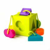0歳から遊べる知育玩具♡Fat Brain オームビーキューブの画像(1枚目)
