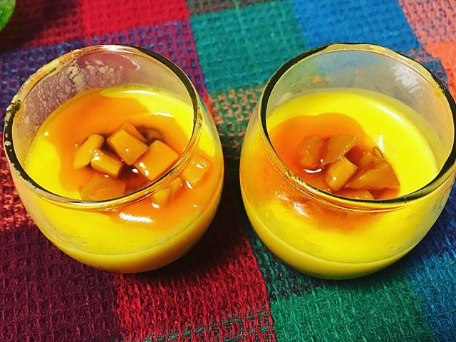 口コミ投稿:共立食品さんより、マンゴープリンが作れるセットをいただきました🎁簡単に作れて、味…