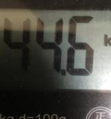 今日の体重と消費カロリーの画像(1枚目)