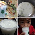 こちらのキッズスムージー、水で作るより牛乳で作ると本当に美味しい💖息子もとってもお気に入りで、朝はヨーグルトを食べる習慣があるからヨーグルトかこちらのキッズスムージーで乳製品を摂取!牛乳で作る…のInstagram画像