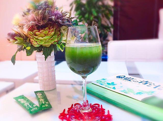 """口コミ投稿:..🌿国産有機素材使用🌿""""藍の力""""と、野菜不足を手軽に補える濃くて美味しい青汁😋💚.純藍…"""
