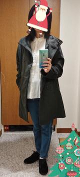 美ライン細見せシルエット『スタンドカラーフェイクウールコート』の画像(8枚目)