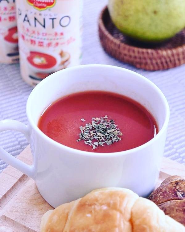 口コミ投稿:朝食に大助かりなパンとおいしい「PANTO」1本でトマト2個分ミネストローネ風11種の野…