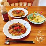.『かつおだしの中濃ソース』でお好み焼きを作りました。美味しい!😋👍Ho cucinato l'okonomiyaki usando のInstagram画像
