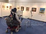 【行ってきました】絵画展 口と足で描いた絵 HEART ありがとうの画像(10枚目)