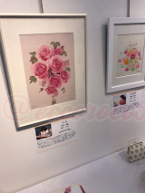 【行ってきました】絵画展 口と足で描いた絵 HEART ありがとうの画像(2枚目)