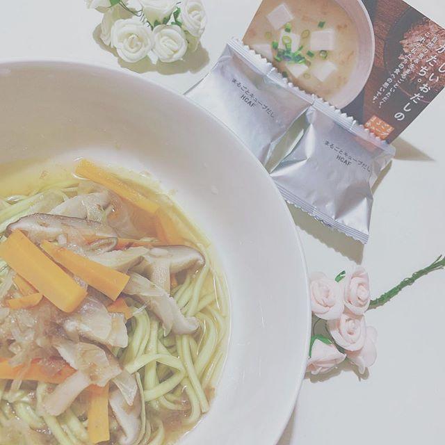 口コミ投稿:..プレミ本舗さんのまるごとキューブだしを使って#栄養満点#簡単 枝豆うどんを作りま…