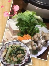 春菊・水菜 収穫です(^_-)-☆の画像(2枚目)