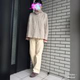 ゆるシルエットのニット×パンツでベージュトーンコーデ☆の画像(1枚目)