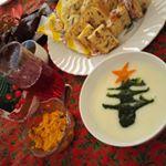 みんなで楽しく手作りリースパンと雪だるまパン⛄そして、ポタージュ💗楽しいクリスマス料理作ったー🎶#共立食品 #手作りスイーツでクリスマス #monipla #kyoritsu_fanのInstagram画像