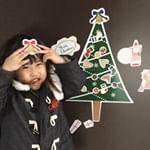 .マグネットパーク様よりクリスマスデコレーションマグネットをモニターさせて頂きました🎄.やわらかい磁石のシートでできたデコレーションステッカー。おしゃれな北欧風デザインのクリスマスツリ…のInstagram画像