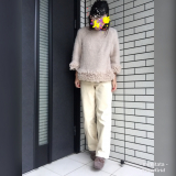 フリンジニット×コーデュロイあったかパンツでコーデ☆の画像(1枚目)