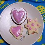 娘とアイシングクッキーに初挑戦!🎅さんにプレゼントのクッキー出来上がり🍪当日🎅さんはクッキーを少しかじってプレゼントを置いていってくれました🎄🎁絵本の通りです💓#わたしのクリスマス #ひかり味…のInstagram画像