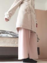 「細見せのシルエットラインが魅力なウールコート」の画像(4枚目)
