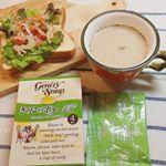 昨日の朝食🍞寒い朝にスープがあるとお腹ポカポカ♨️◆#ジェントリースープ#きのこのポタージュオリジナルコンソメにバターとチーズのコク、きのこの香り広がるスープ❤️うきみはパセリだけです…のInstagram画像
