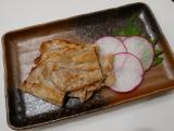 豚肉のカリカリ焼き、梅しそ風味の画像(1枚目)