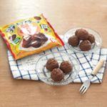 今日の#おやつ#アンパンマン の#もっちりプチホットケーキです(^^) ミルクチョコ味!*私も頂いてみました!ほんともっちり♡子供が好きそうな甘さでした!パクパク食べて…のInstagram画像