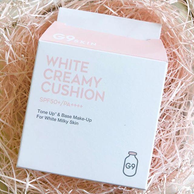 口コミ投稿:✳︎.▫️G9 White creamy cushion 「CC ファンデーション」  15g  1,800円..すっぴ…