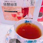 #発酵緑茶 のお試し😆❣️毎日飲みたくなる美味しい #ダイエットティー ✨#ダイエット #国産有機栽培茶葉 を使用し黒麹菌で発酵させています。緑茶と書いてあるから、緑のお茶を想像してい…のInstagram画像