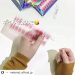 😍お洒落✴楽チンでネイルができそう🎵..#Repost @nailsnail_official_jp (@get_repost)・・・本日からmoniplaで#ネイルスネイル …のInstagram画像