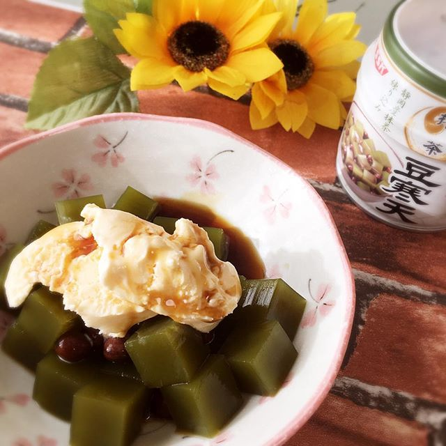 口コミ投稿:めっちゃ美味しい豆寒天を食べてみました〜♡寒天っえ個人的に夏のイメージがあったん…
