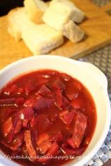 ビーツの赤いスープの画像(1枚目)