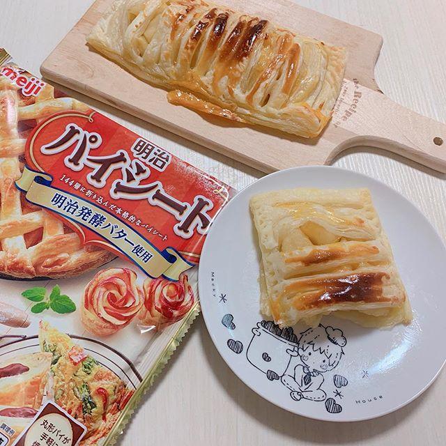 口コミ投稿:🍎🍎🍎.meijiさんからパイシートをいただいて、アップルパイを作ってもらいました🥰簡単…