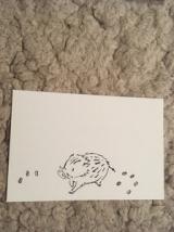 「いのししの年賀状図案」の画像(1枚目)