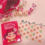 ペコちゃん好きは必見*@holikaholika_jp ・・ ホリカホリカとコラボしたペコちゃんのオイルペーパーです!モニター当選嬉しい😊・・・キャンディの包み紙と…のInstagram画像
