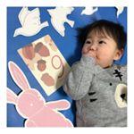 .先日、9ヶ月になった息子さん⭐️「フェリシモMAMA」様からモニター商品を頂いたので早速使って月齢フォトを撮りました📸💓.月齢ごとに可愛いイラストのカードがあって、そのままでももちろ…のInstagram画像
