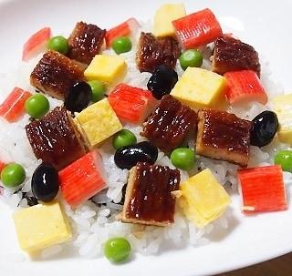 口コミ投稿:魚のすり身で作った「うなる美味しさうな次郎」でちらし寿司を作ってみました(*'ω'*)…