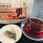 『国産オーガニック 発酵緑茶』を飲んでみました💕*緑茶だから緑色かと思いきや、これは紅茶と同じで茶葉を発酵させているので、少し赤みがかった茶色のお茶です。見た目は紅茶そっくり!*ち…のInstagram画像