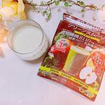 ✔ 株式会社メタボリックエンナチュラルグリーンスムージー♡ @ennatural_smoothie 夜ごはんの前に、豆乳で割って飲んでます🥰スプーン一杯に無調整豆乳で🌼かなりドロッ…のInstagram画像