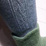 この時期大活躍のレギンス シャルレの厚手のウール混スパッツの画像(3枚目)
