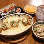 #夜ごはん 3.21(木).マルハニチロ さんに 肉ガブッと! シリーズをいただきました🍳.春の新商品🌸アレンジレシピを…ということで、今回はメンチカツをグラタンにイーーン!!😆…のInstagram画像