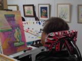 「口と足で描いた絵【春休みの特別課外授業】に参加させて頂きました!」の画像(4枚目)