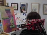 「口と足で描いた絵【春休みの特別課外授業】に参加させて頂きました!」の画像(3枚目)